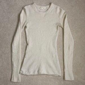 INHABIT Cream Cashmere Sweater